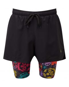 2 in 1 Double Layer Shorts | Day of the Dead