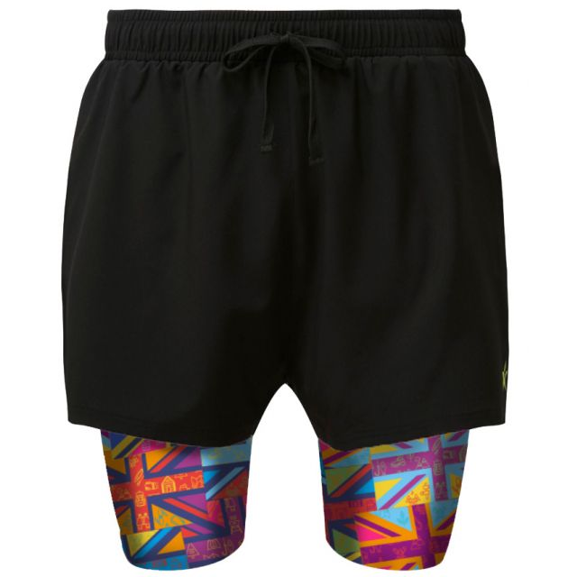 2 in 1 Double Layer Shorts | Forest Flag