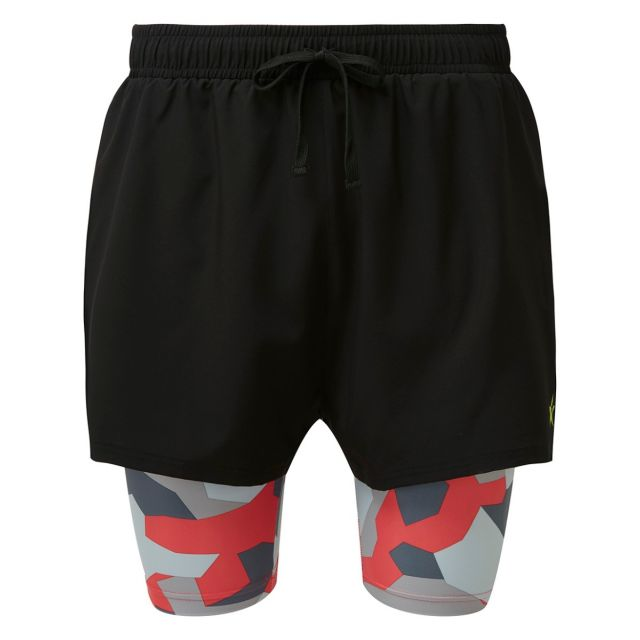 2 in 1 Double Layer Shorts | Geo Camouflage