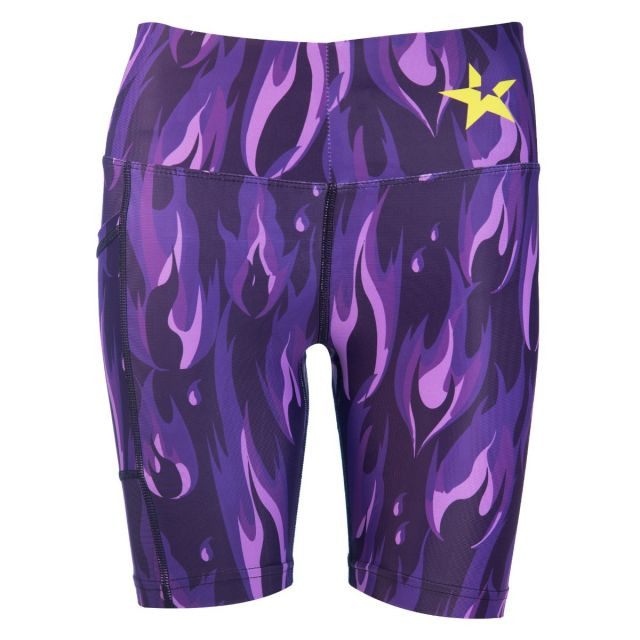 Purple Flame shorts front