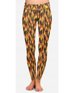 Women's flame patterned running leggings