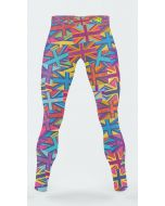 Men's running tights with flag pattern
