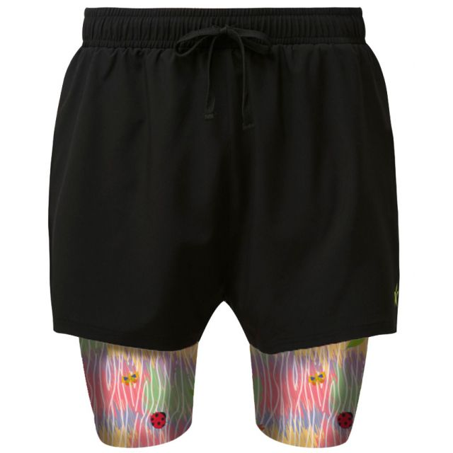 2 in 1 Double Layer Shorts   Forest of Colour