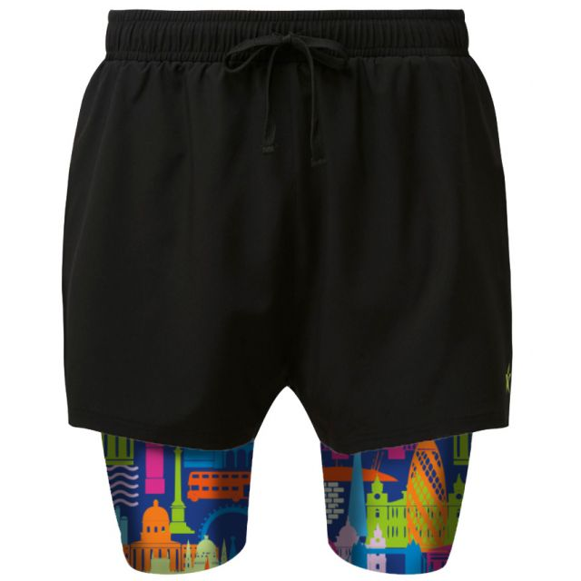 2 in 1 Double Layer Shorts   London Calling