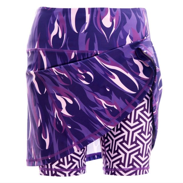 Purple Flame Skort and shorts