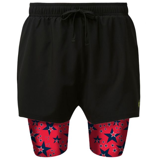2 in 1 Double Layer Shorts   Red Dwarf