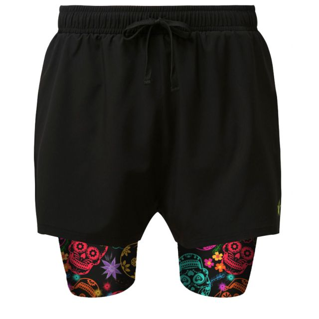 2 in 1 Double Layer Ultra Shorts Day of the Dead