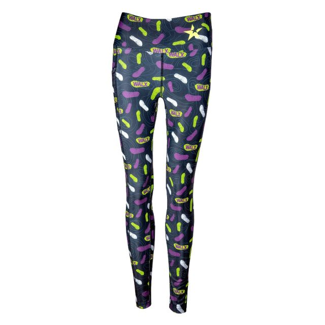 WALX boot print leggings with contour lines