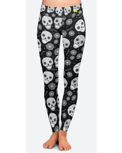 Women's Leggings | Black Skulls