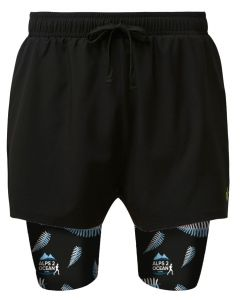 Dual shorts with Alps to Ocean pattern