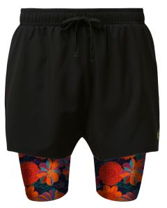 2 in 1 Double Layer Shorts | Desert Flowers