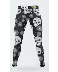 Black skull men's leggings
