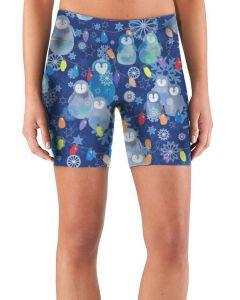 Women's shorts with Polar Waddle pattern